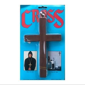 Jewelry - 1991 Vintage Costume Cross Crucifix Halloween new